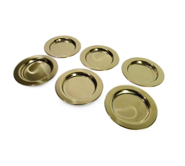 Conjunto de Porta Copos Dourado em Aço inox 6 peças - By Fineza