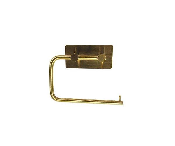 Porta Papel Higiênico Dourado para fixar na parede – By Fineza