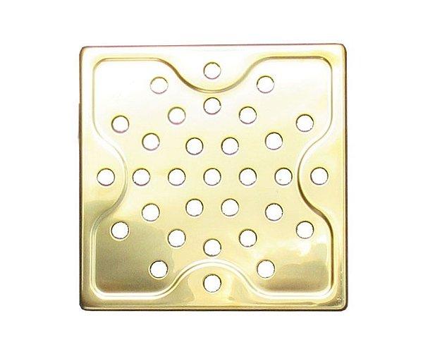 Ralo Dourado Quadrado 15x15cm - By Fineza