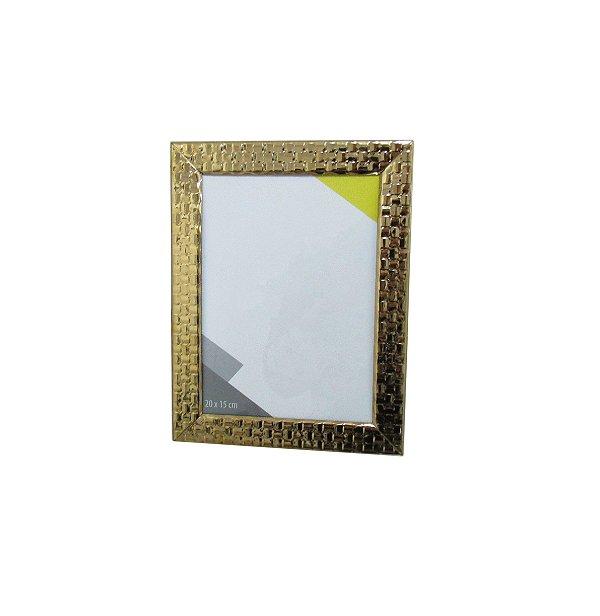 Porta-retrato dourado em aço inox 20x15cm - By Fineza