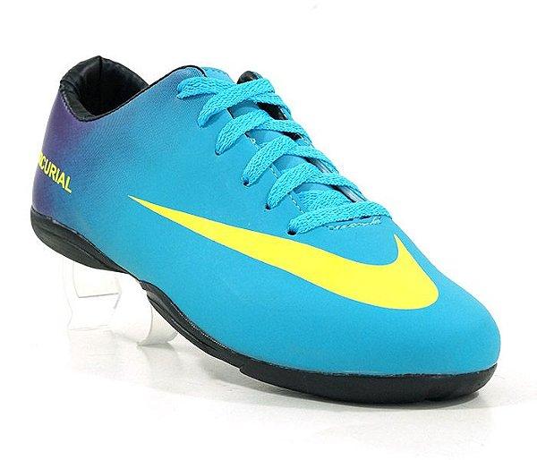 fd7409e618 Chuteira Futsal Nike Mercurial Roxo e Azul Bebê - Nitro Artigos ...
