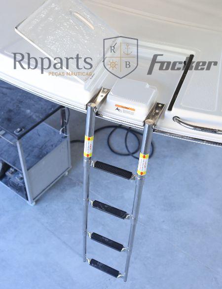 Peças e Acessórios Lancha Focker - Borracha do Degrau de Escada de Popa