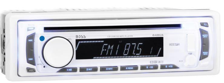 Peças e acessórios Lanchas Focker - CD/MP3 Player Marinizado Boss Marine - MR648W