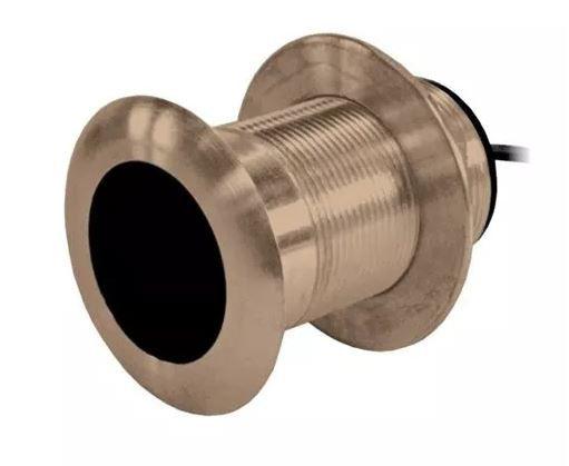Peças e Acessórios Focker - Transducer de Bronze Thru-Hull Garmin - 8 pinos - 600w