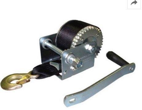 Peças e acessórios Lanchas Focker - Guincho Manual p/ Carreta c/ Fita em Nylon - 1200 lb - Ruptura: 816kg