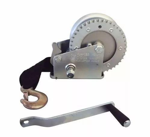 Peças e acessórios Lanchas Focker - Guincho Manual p/ Carreta c/ Fita em Nylon - 2000 lb - Ruptura: 1360kg