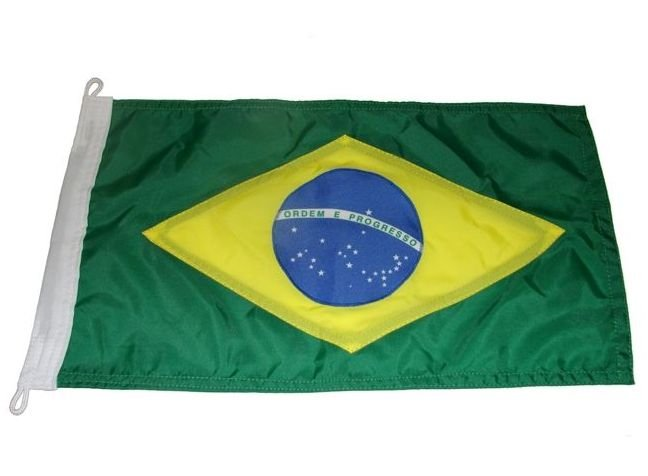 Peças e Acessórios Lancha Focker - Bandeira do Brasil Dupla Face p/ Embarcações 32x20cm 1 un.