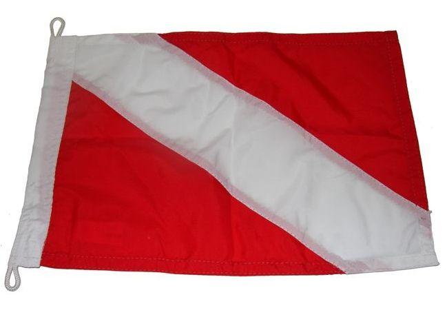 Peças e Acessórios Lancha Focker - Bandeira de Mergulho Dupla Face p/ Embarcações 40x24cm 1 un.