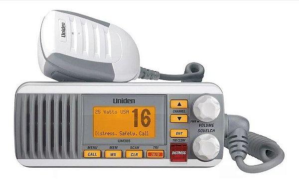 Peças e acessórios Lanchas Focker - Rádio VHF Fixo Uniden Um385 Dsc Branco