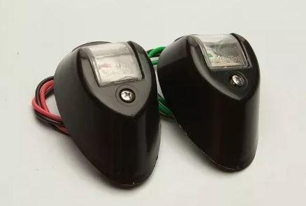 Peças e acessórios Lancha Focker - Par de luz de Navegação a LED (Preto, branco ou cromado)