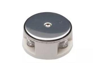 Peças e acessórios Lancha Focker - Luz de Navegação de Proa bicolor LED Acabamento em Inox (Preto, branco) 1 un.