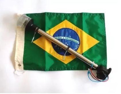 Peças e acessórios Lanchas Focker - Luz Circular de ancoragem à LED com Estrobo Base Articulada com Bandeira 280mm (Preto, branco) 1 un.