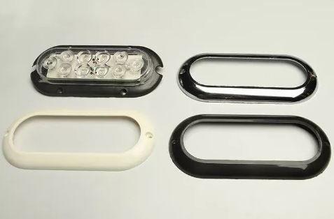 Peças e acessórios Lancha Focker - Luz para cabine LED 12V Moldura branco, preto ou cromado (Branco, amarelo, azul ou vermelho) 1 un.