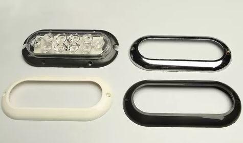 Peças e acessórios Lancha Focker - Luz para cabine LED 24V Moldura branco, preto ou cromado (Branco, amarelo, azul ou vermelho) 1 un.