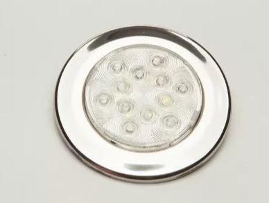 Peças e acessórios Lanchas Focker - Luminária de Cabine Aço Inox 304 LED 12V Corpo branco (Branco frio, branco quente) 1 un.
