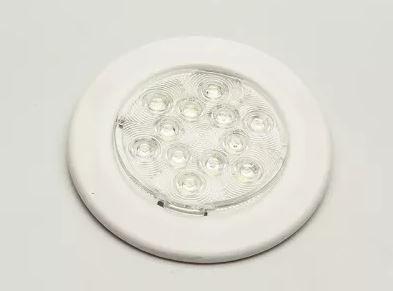 Peças e acessórios Lanchas Focker - Luminária de Cabine LED 12V Corpo Aço Inox 304 (Branco frio, branco quente) 1 un.