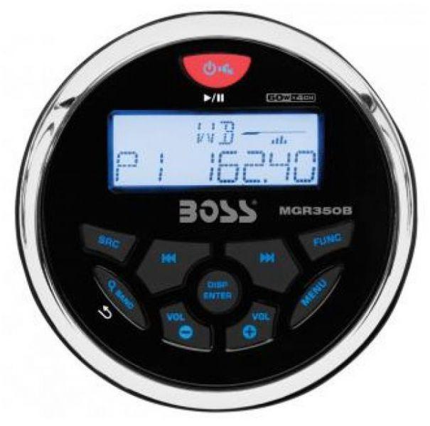Peças e Acessórios Lancha Focker - MP3 Multimedia Player Receiver c/ Bluetooth Marinizado Boss Marine - MGR350B