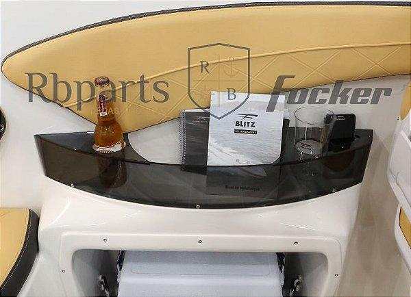 Peças e acessórios Focker - Acrílico do Porta Copos Fumê Focker 215/230
