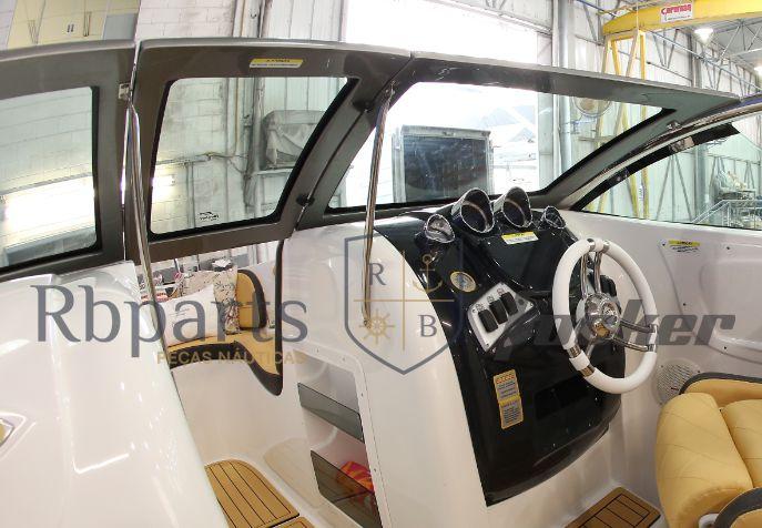 Peças e acessórios Lancha Focker - Para-brisa Vidro Frontal Portinhola Focker 240