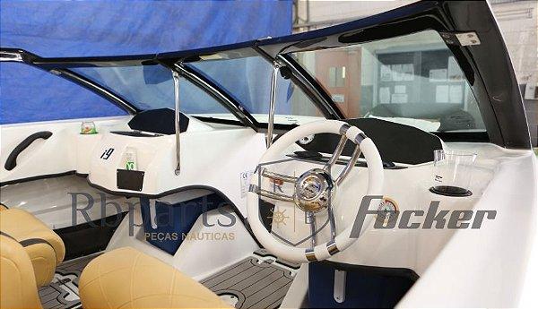 Peças e acessórios Lancha Focker - Para-brisa Vidro Frontal Piloto ou Copiloto Focker i9