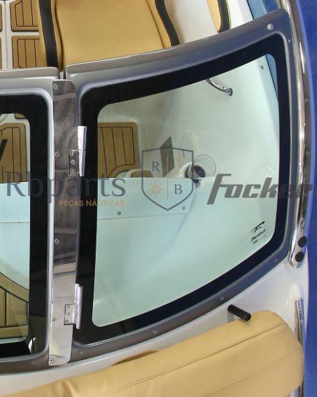 Peças e acessórios Lancha Focker - Para-brisa Vidro Frontal Copiloto Focker 215