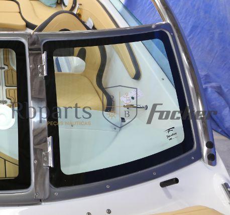 Peças e acessórios Lancha Focker - Para-brisa Vidro Frontal Copiloto Focker 230