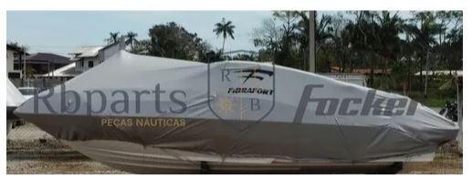 Peças e Acessórios Lancha Focker - Capa de Proteção e Transporte Cobertura Sem Motor Focker 210