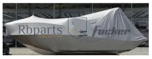 Peças e Acessórios Lancha Focker - Capa de Proteção e Transporte Cobertura Sem Motor Focker 330