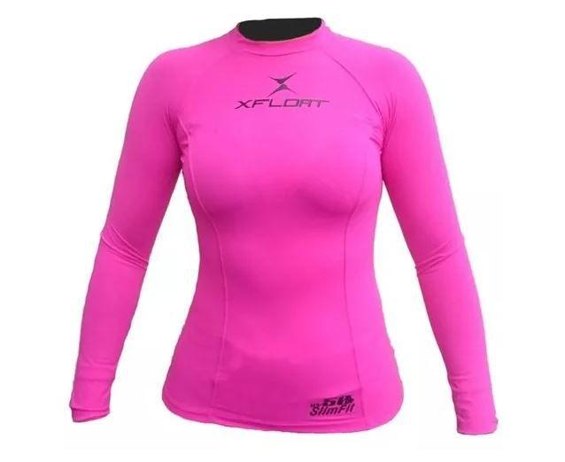 Peças e Acessórios Lancha Focker - Camiseta de Lycra Feminina Uv 50 Slim Fit P M G GG