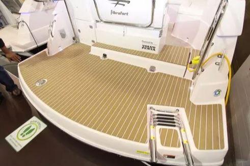 Peças e Acessórios Lancha Focker - Teka Sintética Sem Bordas Plataforma + Cockpit Focker 265 Cab