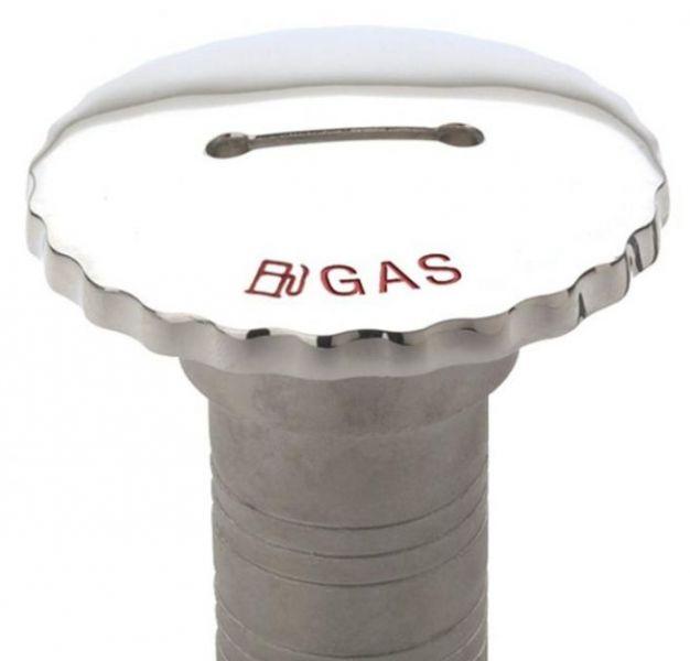 Peças e Acessórios Lancha Focker - Bocal de abastecimento 2 Pol em Inox com Trava de Segurança - Gasolina