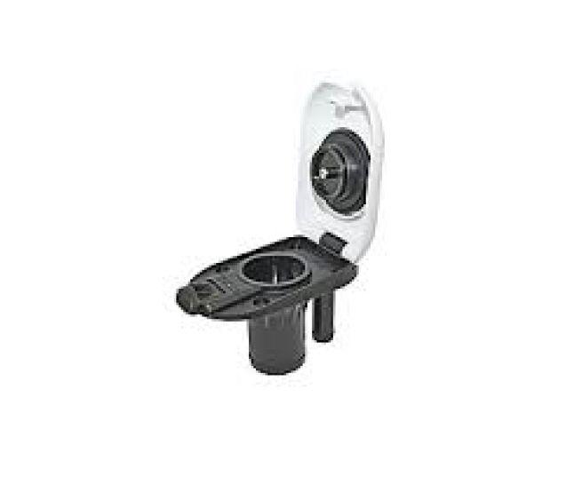 Peças e Acessórios Lancha Focker - Bocal Plástico Oval p/ Deck 1-1/2 pol - Branco - Gasolina