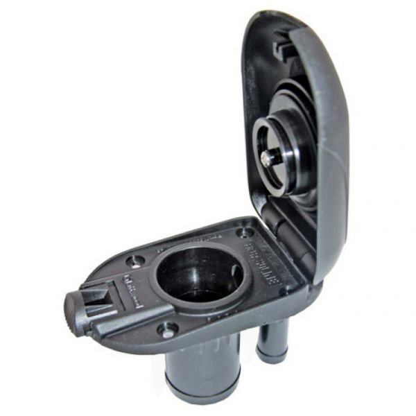 Peças e Acessórios Lancha Focker - Bocal Plástico Oval p/ Deck 1-1/2 pol - Preto - Gasolina