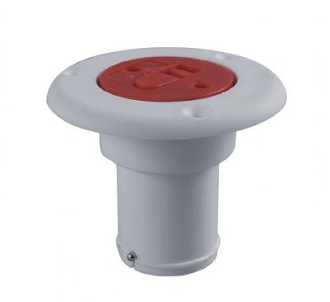 Bocal de Abastecimento em ABS c/ Trava de Segurança - Branco/Vermelho - Combustível