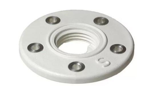 Peças e acessórios Lanchas Focker - Flange para Dreno em Plástico c/ Bucha em Metal - 25 mm