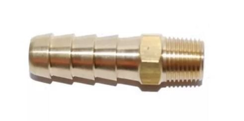 Peças e acessórios Lanchas Focker - Conector de Combustível Anti-Retorno 1/4 Rosca NPT Macho - 3/8 Mangueira - Lado Tanque