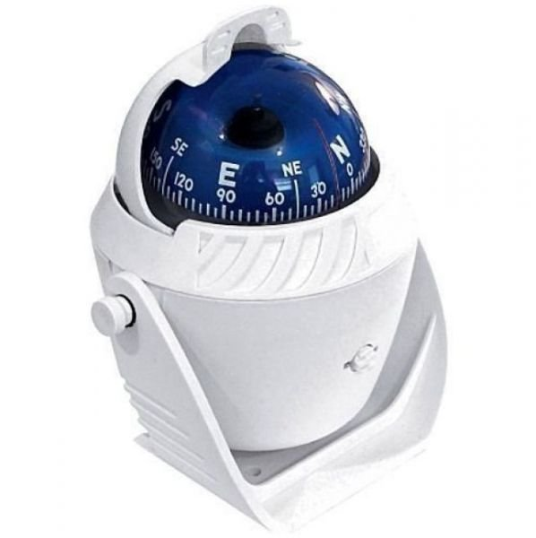 Peças e Acessórios Lancha Focker - Bússola c/ Base Náutica - C/ Iluminação - Tam: Grande - Cor: Branca
