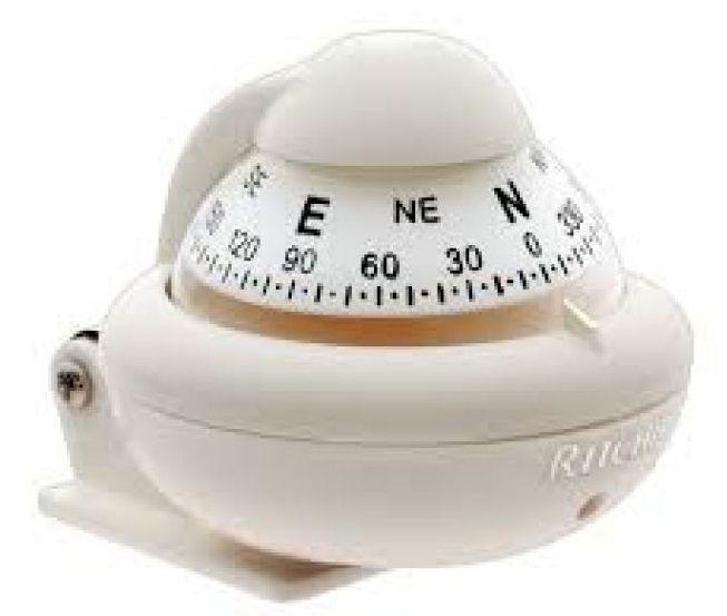 Peças e Acessórios Lancha Focker - Bússola c/ Base Náutica - C/ Iluminação - Ritchie X10WM - Cor: Branca