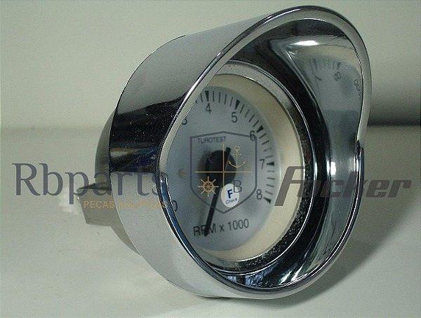 Peças e Acessórios Lancha Focker - Aro Relógio Cromado Grande