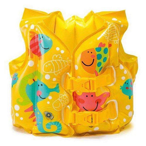 Colete Inflável Infantil Acessório De Nado Peixes Intex