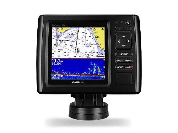 GPS GARMIN SONDA ECHOMAP 54CV - MAPAS BRASIL