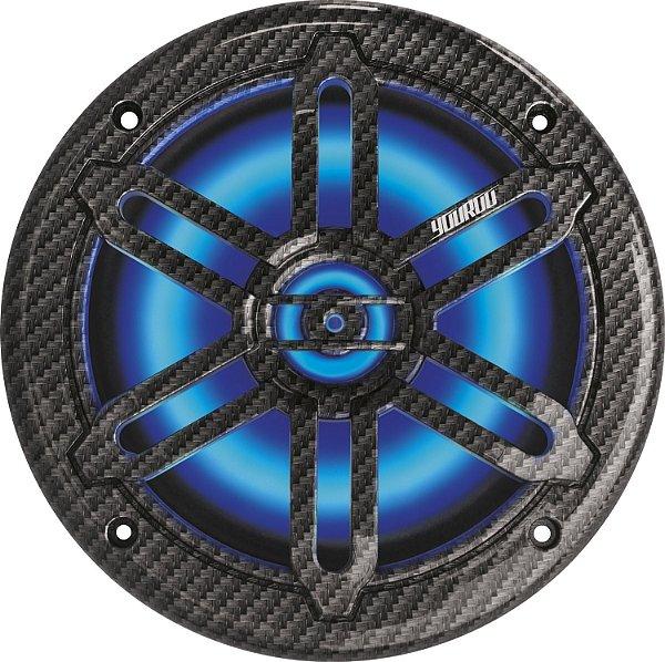 Par de Alto Falante Marinizado Youroo Design Fibra de Carbono 6,5 polegadas 150W