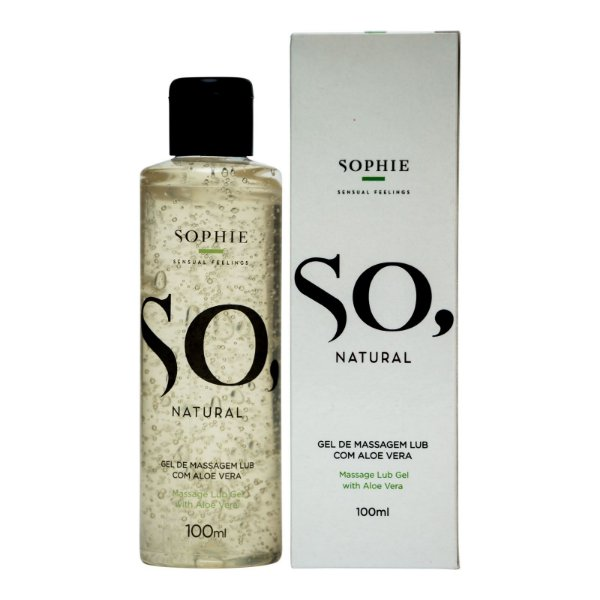 SO NATURAL GEL LUBRIFICANTE COM ALOE VERA - SOPHIE