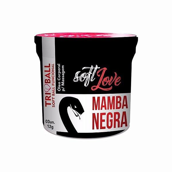 SOFT BALL MAMBA NEGRA CÁPSULAS GELATINOSAS FUNCIONAIS COM 3 UNID. - SOFT LOVE