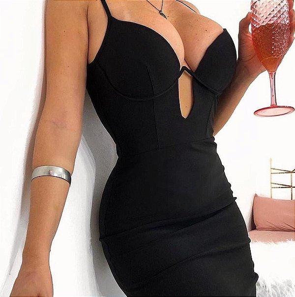 Vestido Feminino Aro na cor preto