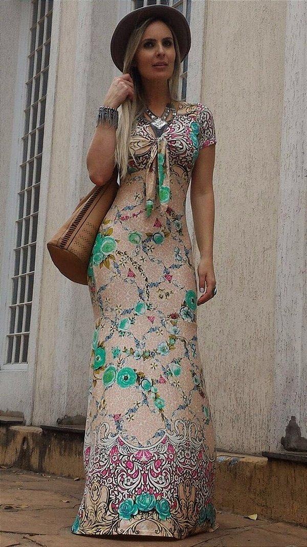 Vestido longo sereia lindo e delicado