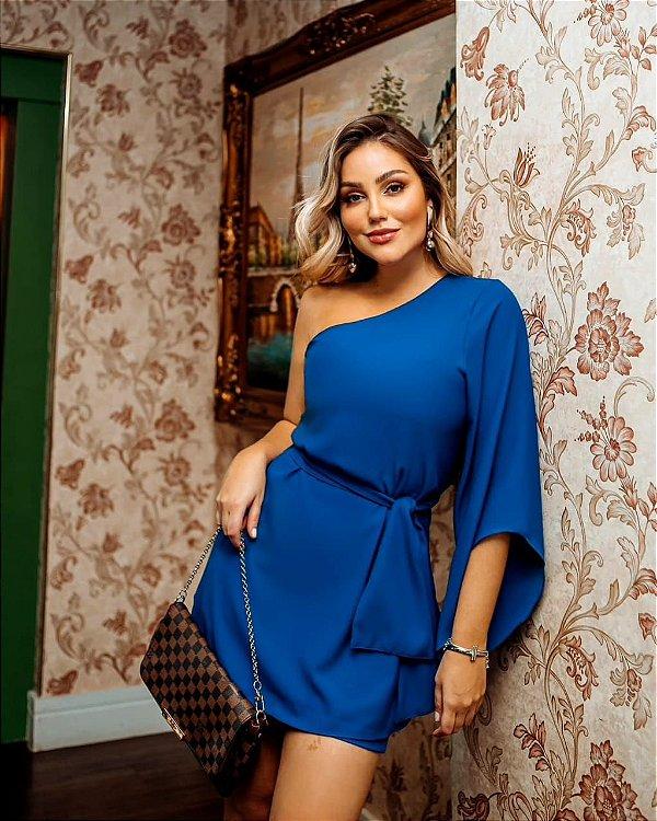 Conjunto Jacque blusa e shorts - Azul