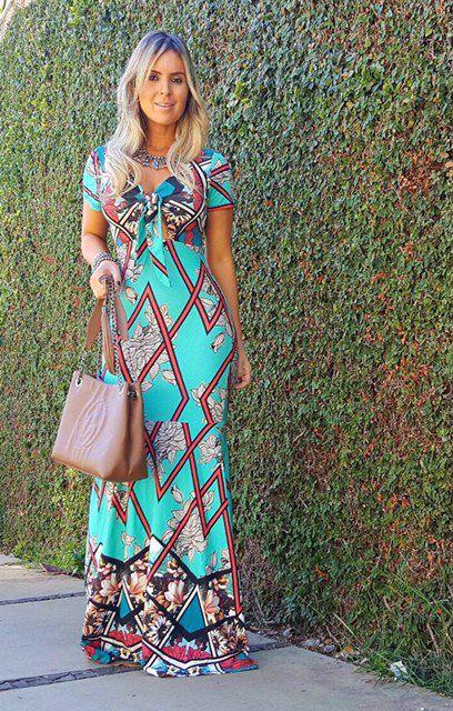 Vestido longo sereia em tonalidades verdes super maravilhoso