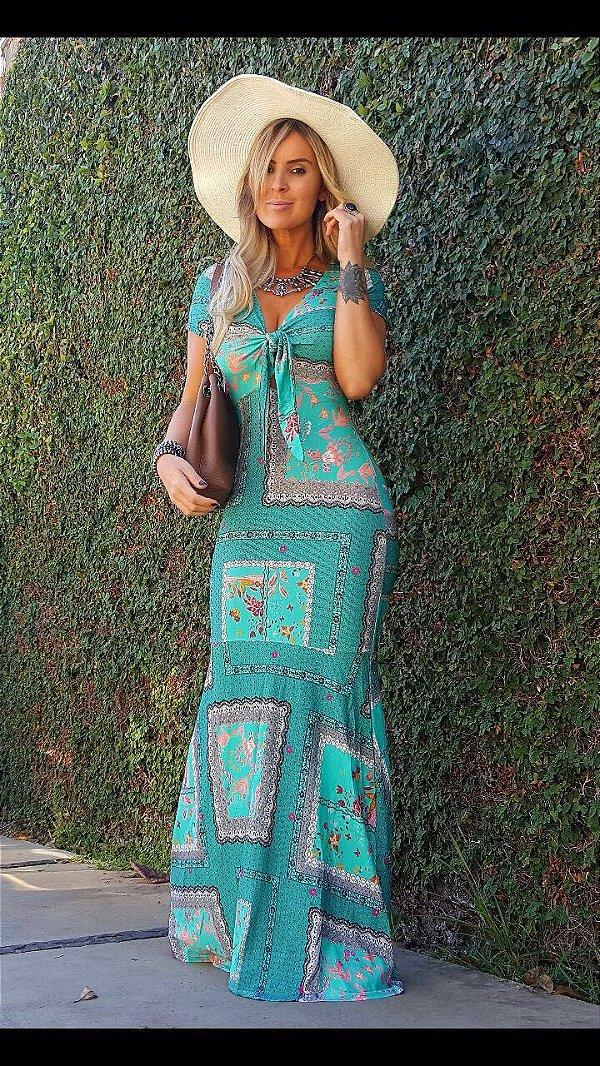 Vestido sereia maravilhoso verde retract