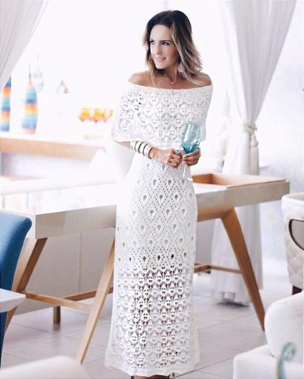 vestido deslumbrante em tricot